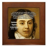 Samuel Taylor Coleridge Poet Framed Tile