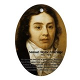 Samuel Taylor Coleridge Poet Oval Ornament