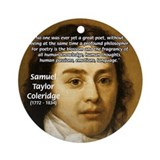 Samuel Taylor Coleridge Poet Ornament (Round)