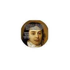 Samuel Taylor Coleridge Poet Mini Button