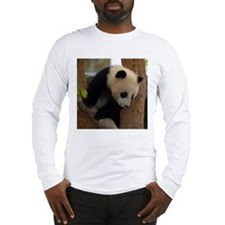 Panda Cub Square Photo Long Sleeve T-Shirt