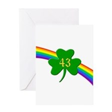 43rd Shamrock Greeting Card