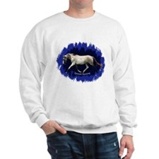 Blue Mulit-colored filly Sweatshirt