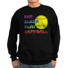 Eat Sleep Play Softball 3 Sweatshirt