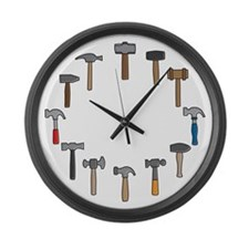 Hammer Time Large Wall Clock
