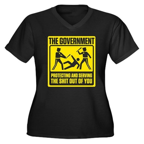 Government: Protect & Serve Women's Plus Size V-Ne