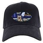 SILKY Terrier art items Black Cap