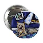 SILKY Terrier art items Button