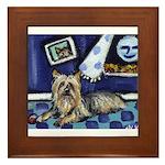 SILKY Terrier art items Framed Tile