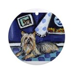 SILKY Terrier art items Ornament (Round)
