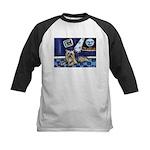 SILKY Terrier art items Kids Baseball Jersey