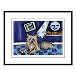 SILKY Terrier art items Large Framed Print