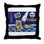 SILKY Terrier art items Throw Pillow