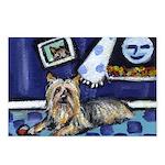SILKY Terrier art items Postcards (Package of 8)