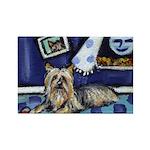 SILKY Terrier art items Rectangle Magnet