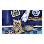 SILKY Terrier art items Rectangle Sticker