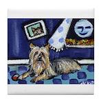 SILKY Terrier art items Tile Coaster