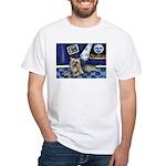 SILKY Terrier art items White T-Shirt