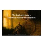 Fool Angry Wise Understand Postcards (Package of 8