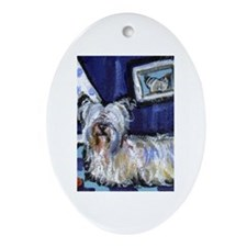 Skye Terrier items Oval Ornament