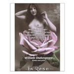 Shakespeare Quote Name Rose Small Poster