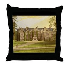 Wroxton Abbey Covered in Ivy. Throw Pillow
