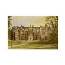 Wroxton Abbey Covered in Ivy. Rectangle Magnet