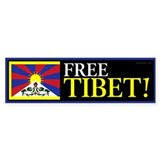 Free Tibet! Bumper Car Sticker