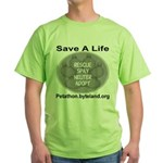 Save A Life Petathon Golden Paw Green T-Shirt