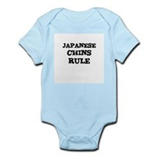JAPANESE CHINS RULE Infant Creeper