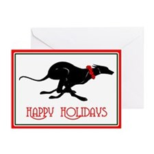 Greyhound Happy Holidays Cards (Pk of 20)
