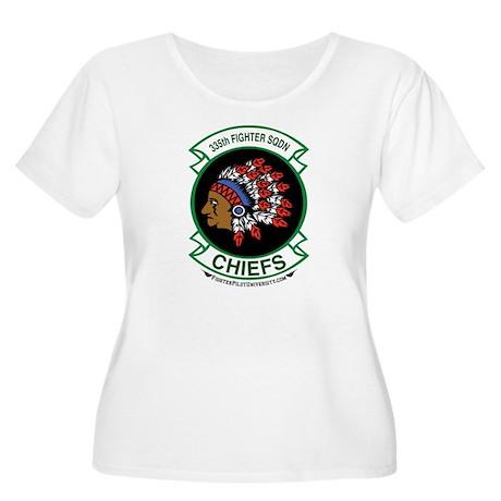 335th FS Women's Plus Size Scoop Neck T-Shirt