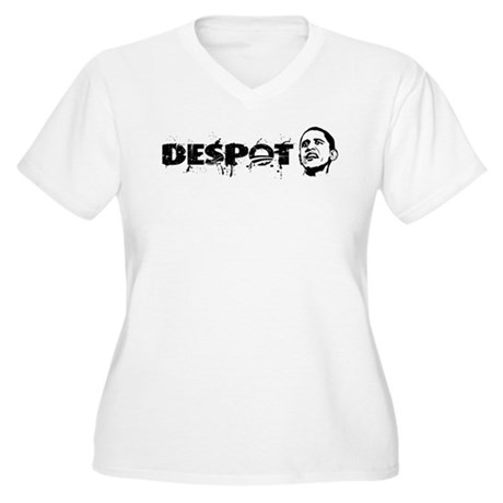 Despot Women's Plus Size V-Neck T-Shirt