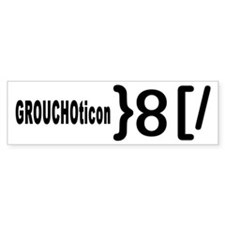 GROUCHOticon Bumper Bumper Sticker