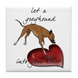 Greyhound Heart Tile Coaster