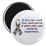 "Hyperlexia Awareness 2.25"" Magnet (100 pack)"