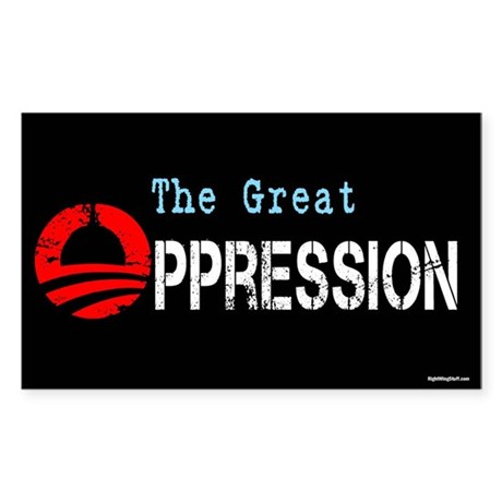 The Great Oppression Sticker (Rectangle)