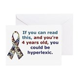 Hyperlexia Awareness Greeting Cards (Pk of 10)