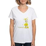 Floral Euphoria Women's V-Neck T-Shirt
