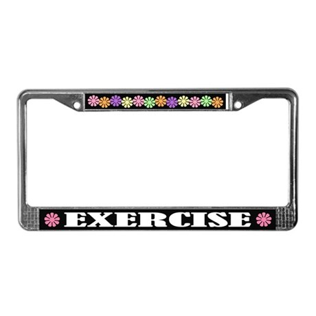 Exercise License Plate Frame