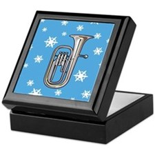 Tuba Winter Snowflake Music Keepsake Box