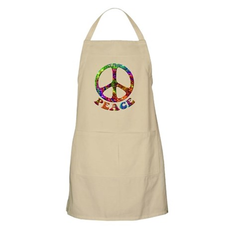 Jewelled Peace Symbol Apron