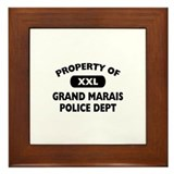 Property of Grand Marais Police Dept Framed Tile