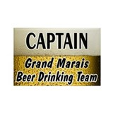 Grand Marais Beer Drinking Team Rectangle Magnet (