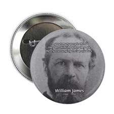 "Funny Quotes: William James 2.25"" Button (100 pack"