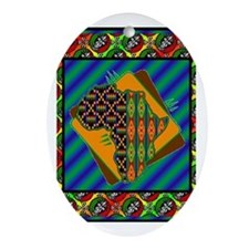 Funny African christmas Oval Ornament