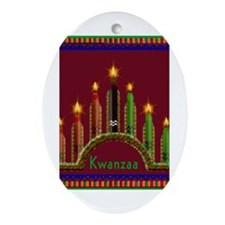 Cute African american holidays Oval Ornament
