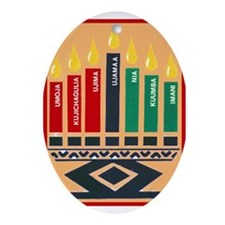 Cute Kwanzaa Oval Ornament