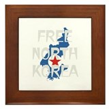 Free North Korea Framed Tile