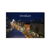 Barcelona (at night) Rectangle Magnet